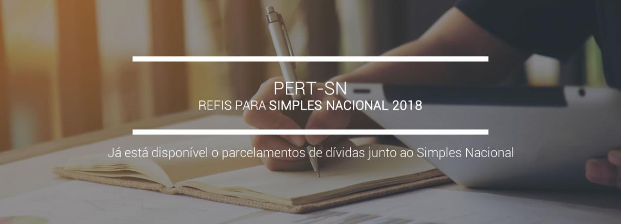 [PERT-SN - Refis para o Simples Nacional 2018]